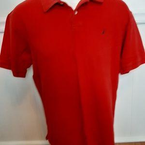 Men's Nautica short sleeve red polo